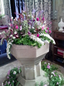 church font flowers